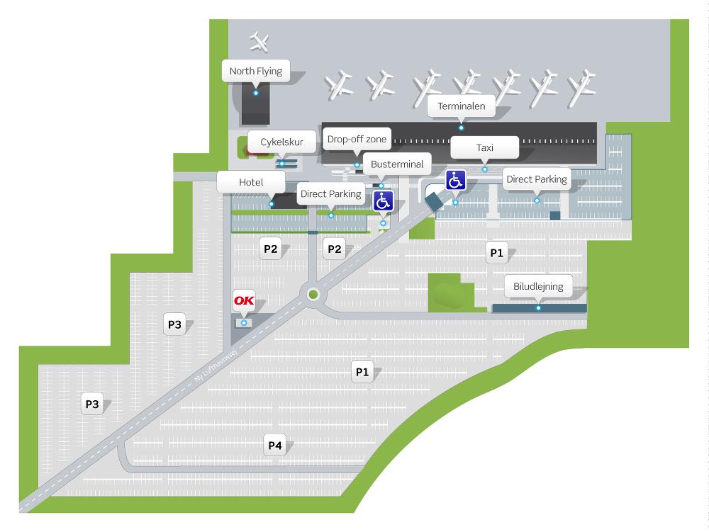 kort over parkering københavns lufthavn